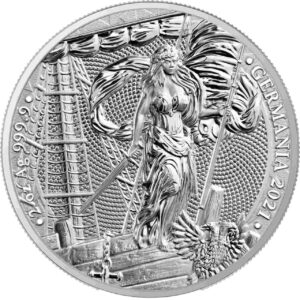 srebrna moneta germania 2021
