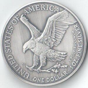 Amerykański Orzeł 1 uncja Srebra 2021 NOWY WIZERUNEK Antique